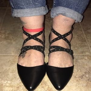 Lane Bryant Pointed Toe Strappy Flats